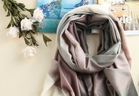 Wholesale Excite Woman - 80 yarn-dyed soft light gradient color grid pattern is exciting to extend the warm high-quality wool scarf