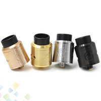 Wholesale Free Negative - 528 GOON V1.5 RDA Atomizer with Wide Bore Delrin Tip Positive & Negative Bridges Replaceable 24mm PEEK Insulators DHL free