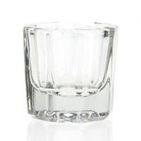 Wholesale Bowl Cup Acrylic Liquid Dappen - Wholesale- 1pcs Crystal Glass Dappen Cup Nail Art Acrylic Liquid Powder Mixing Storage Mini Dish Lid Bowl Salon Necessary Manicure Tool