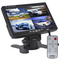 Wholesale Stand Headrest Monitor - 7 Inch 4 Split Quad Video Displays + Automatic Identify Input Signal TFT LCD Car Monitor with Stand-alone Headrest CMO_353