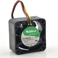 ventiladores de enfriamiento 12v cables al por mayor-NIDEC TA150DC C34955-57 4028 12V 0.29A 3 hilos velocidad axial caja mini ventilador de refrigeración