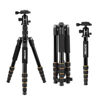 Wholesale Compact Digital Camera Tripod - ZOMEI lightweight Portable Q666 Professional Travel Camera Tripod Monopod aluminum Ball Head compact for digital SLR DSLR camera