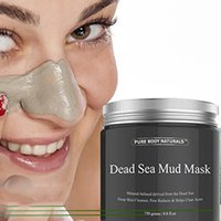 Wholesale Natural Pack Mask - Dead Sea Mud Mask Anti Acne Deep skin Cleanser Pore Reducer Natural Mineral-Infused Detoxifier Packed With Vitanins to promote youthful skin