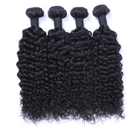 Wholesale hair for afro weave for sale - Group buy Afro Curly Brazilian Human Hair Weave Bundles Jerry Curl Human Hair Extensions Double Drown Weft For Black Women