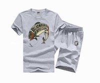 Wholesale Funny Running Shirts - 2017 new arrived in men's hip hop set siksilks Extended funny sky summer fashion embroidered bbc t shirts +pants