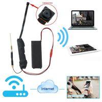 Wholesale Access Boards - 32GB HD 1080P Wireless WIFI IP P2P Camera Module Board Camera Mini Hidden Camcorder DV DVR Micro Monitor By Phone or Computer