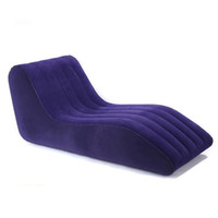 Wholesale Couple Sex Inflatable - S-type sex cushion inflatable sofa chair furniture for couples,luxury sexo love sofa sexual intercourse positions bed chairs