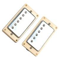Wholesale Electric Guitar Neck Part - Yellow gold double core Humbucker tablets bridge neck set of guitar, electric guitar accessories parts