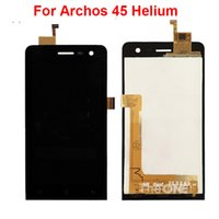 Painéis para Archos 45 Helium / 45 Titanium / 53 Platinum LCD Display + Touch Screen Digitizer Painel Mobile Phone Replacement Parts Assembly