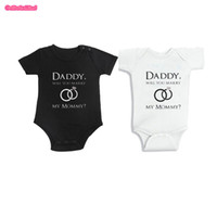 0-12M outfit ideas - DADDY Will You MARRY My MOMMY Body suit Marriage Proposal Idea Baby Jumpsuit Outfit Twins Clothing for New born M