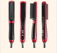 Wholesale Play Straight - 2017 hot selling Wet and dry KD-388 Professional Straightening Irons Come With Is Play Electric Straight Hair Comb Straightener Iron Brush