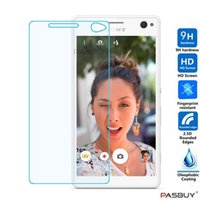Washable   Tempered Glass Screen Protector Round Edge Protection For Sony Xperia PSV1000 PSV2000 C4 C5 C6 E3 M2 M4 M5