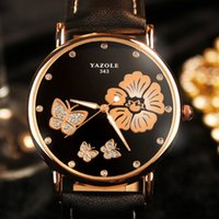 Wholesale Drilling Table Watch - In 2017, the new fine and elegant five leaf watch water drill belt fashion table quartz women's watch