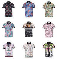 Wholesale Tiger Digital Printed T Shirts - New Fashion Summer Men's Polo shorts shirt 3D digital print tiger pattern shirt Man Jacker Casual Short Sleeve T-shirt top