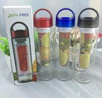 Wholesale Fast For Health - 30pcs 700ML Fruit Infuser Water Bottle for Sports Health Juice Maker Best BPA Free 3Colors Lemon Bottles Tritan Material Fast Way DHLCPA004