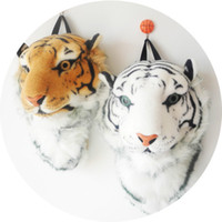 Wholesale Kids Tiger Backpack - 2017 3D Tiger Head Backpack Cartoon Animal Lion Bags White Women Men Casual Daypacks for Travelling Kids Bags Bolsas Hot Sale