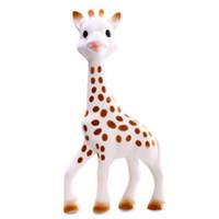 Wholesale Deer Giraffe - Teether Vulli Sophie Giraffe Baby Teether Natural Rubber Pacifier Squeaker Toy Sophie Deer Vullisophie Teether 7inch C1754