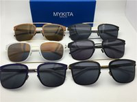 Wholesale Hunter Sports - new mykita sunglasses ultralight frame without screws HUNTER sqaure frame flap top men brand designer retro sport sunglasses
