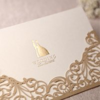 Wholesale Gold Prices Year - New arrival Gold Wedding cards customized wedding invitation cards via DHL free shipping in good price