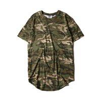 Wholesale Camisetas Nylon - Men's spring summer camouflage hip hop t shirt kanye west clothing men camo punk rock swag tee shirts camisetas hombre
