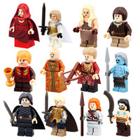 Wholesale Snow Blocks - 12pcs lot PG8029 Game of Thrones Jon Snow Khai Drago White Walker Ice and Fire Series Building Blocks Toys