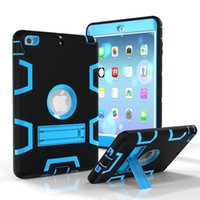 "Wholesale Waterproof Mini Case - High Impact Resistant Cover For Apple iPad mini1234 Air2 234 Pro 9.7"" Case Hybrid Three Layer Heavy Duty Armor Defender Full Protect"