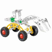 Wholesale Children Playing Snow - 3D Assembly snow grader Metal Alloy Engineering Vehicle Model Kits Toy Car Building Puzzles Construction Play Set for Kids Children