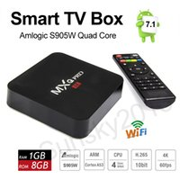 Android 7.1 Smart TV Box Amlogic S905W Quad Core MXQ Pro Mini PC 1 Go 8 Go Wifi 4K H.265 Streaming Google Media Player Set Top Box Vente en gros