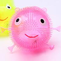 отраженный мяч оптовых-Свет Maomao светящийся еж детей флэш-прыгающий мяч вентиляционная стойла продажи оптом