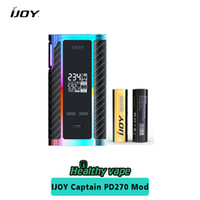 Wholesale Box Brother - Original iJoy WonderVapeCO 270 Mech Starter Kit 20700 Battery Brother Mod iJOY Captain PD270 TC Box Mod 234W Rainbow Color