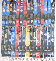 большие телефоны оптовых-Смотри! Вот некоторые из ваших любимых бейсбольных команд. Брелок-шейный ремешок для мобильного телефона Lanyard пяти цветов (большое количество выгодно).