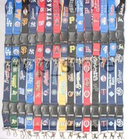 Wholesale Neck Lanyards For Keys - Look! Some of your favorite baseball teams are here Lanyard mobile phone neck strap key chain five colors(Large quantity favorably).