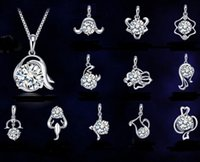Wholesale wholesale zodiac necklaces - New 925 sterling silver necklace pendant twelve constellations pendants zodiac signs pendant, excluding chain,High quality free shipping