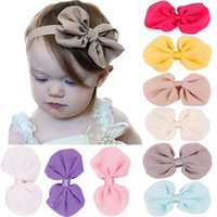 Fashion Cheapest Baby Girl Hairband Newborn Headwear Enfants Bowties Accessoires pour cheveux Kids Hairs Clips Pure Color 300pcs / lot