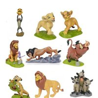 Wholesale Lion King Action Figures - The Lion King Simba Mini Figure Dolls PVC Plastic Action Figure Toys Animal collectable Dolls Animal minifigures Kids Chiristmas Gift 100162