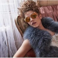 Wholesale Linda Gift - women LINDA FARROW Brow line Gold Mirrored Sunglasses Gift Box