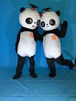 panda fantasia venda por atacado-Frete Grátis New Kung Fu Panda Do Traje Da Mascote de Natal da Festa de Aniversário do Dia Das Bruxas urso Mascot Costume Fancy Dress Adulto Tamanho
