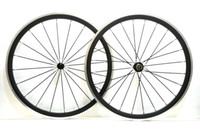 Wholesale Aluminum Road Wheelset - Free shipping Alloy Brake Surface wheels 38mm depth 23mm width Aluminum brake road bike carbon wheelset with Powerway R13 hub