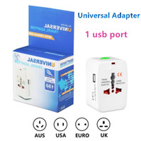 Wholesale multifunction adapter online – New UK EU US AU International Plug one Ports USB Universal Travel Charger All in One Multifunction Worldwide Portable Wall Adapter