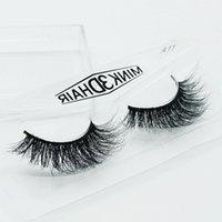 Wholesale Threads Eyelashes - Mink False Eyelashes Natural 3D Long Crisscross Thick Messy Soft Stage Makeup Fake Eyelashes 100% Pure Hand cotton Thread Lashes