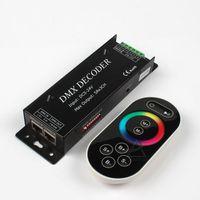 controlador dmx led venda por atacado-Novo 2015 Led Rgb DMX Decodificador Controlador 12 V DMX512 Decoder RF Remoto Led Strip rgb dmx divisor Dmx101 Frete Grátis