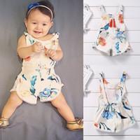 Wholesale Posh Outfits - Newborn baby little girls boutique clothes Infant bubble romper Kids posh outfits sleeveless Bodysuit summer Jumpsuit kidswear famous brand