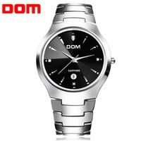 Wholesale Dom Tungsten - Wholesale- original DOM 698 Mens Watches Top Brand Luxury Quartz Watch Fashion Tungsten Steel Waterproof Watch Montre Luxury Watch Casual