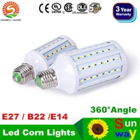 High Power 20W 25W 30W Led Corn Lights SMD 5730 E27 E14 B15 B22 Dimmable Led Bulbs Pendant Lighting 360 Angle CA 110-240V