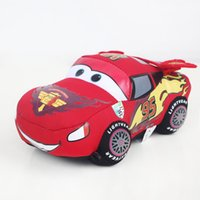 Wholesale Toy Car Size - New Movie Cars Pixar Plush Cars Lightning McQueen Stuffed Toy For Child Gifts ( 3pcs Lot  Size : 16cm )