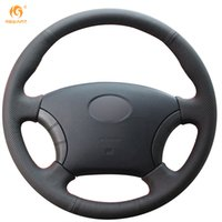 Wholesale Great Wall Wingle - Mewant Black Genuine Leather Car Steering Wheel Cover for Great Wall Haval Hover H3 H5 Wingle 3 Wingle 5