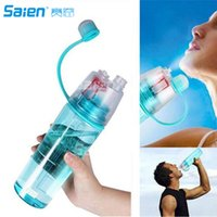 Wholesale 1l Bottles - 0.6L 0.4L Protable Insulated Leak Proof Sports Spray Water Bottle with Spray Mist Plastic Drink Bottle for Kids Students