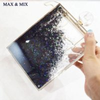 Wholesale Clear Box Clutch - Super Recommendation ! Women Transparent Clear Box Clutch Acrylic Evening Handbags Cross Body Transparent Perspex Purse IN STOCK