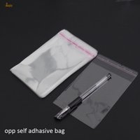 Wholesale cellophane bags wholesale - 300pcs lot Clear Resealable BOPP Poly  Cellophane Ba 9x14 cm Transparent OPP gift Plastic packaging bags Self Adhesive Seal
