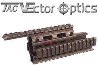 Wholesale Laser Sights For Rifles Scopes - Vector Optics AK RIS Handguard Quad Rail System Mount fit AK 47 & 74 Burnt Bronze Color for Laser Flashlight Sight Rifle Scopes